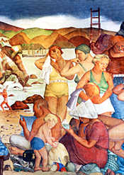 Mural restoration by S.F. Recreation & Parks Department